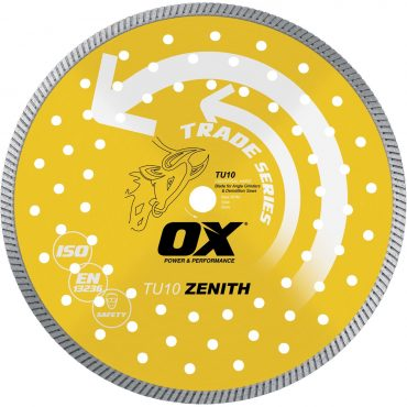 OX Trade 9in Turbo Diamond Blade – Universal Hard OX-TU10-9