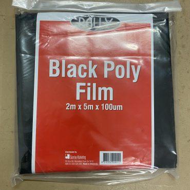 Black Plastic Polythene 2m x 5m x 100um