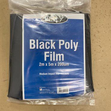 Black Plastic Polythene 2m x 5m x 200um