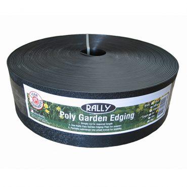 Poly Garden Edging – Black 100mm x 6m